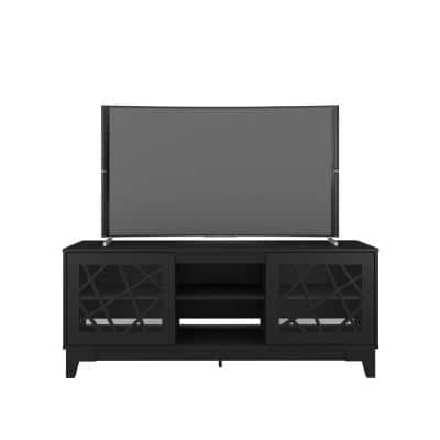 Graphik 63 in. Black TV Stand Fits TV's up to 70 in. with 2-Doors
