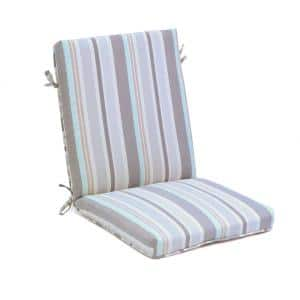 21 in. x 23.5 in. Outdoor Deluxe Highback Dining Cushion in Woven Stripe