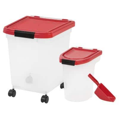 32.5 Qt. 3-Piece Airtight Food Storage Combo in Red