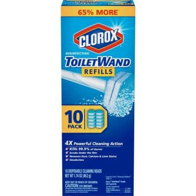ToiletWand Disinfecting Disposable Toilet Cleaning Head Refills (10-Count)