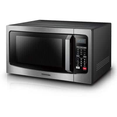 1.5 cu. ft. Countertop Small Convection Microwave in Stainless Steel