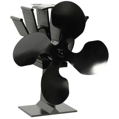 4-Blade Anodized Aluminum Thermoelectric Fan