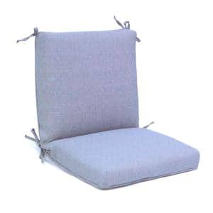 20 in. x 19 in. Outdoor Deluxe Midback Dining Cushion in Stone Gray