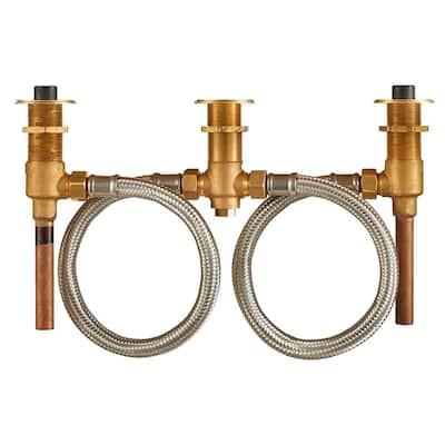 Flash 1/2 in. Copper 2-Handle 3-Hole Roman Tub Filler Rough-In Valve