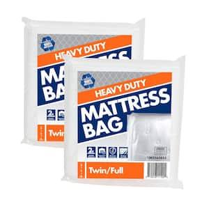 Heavy Duty Twin Full Mattress Bag (60 in. W x 101 in. L x 10 in. D) (2-Pack)