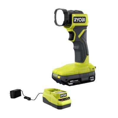 ONE+ 18V Cordless LED Light Kit with 1.5 Ah Battery and Charger