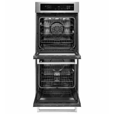 24 in. Double Electric Wall Oven Self-Cleaning with Convection in Stainless Steel