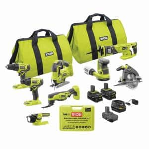 ONE+ 18V Cordless 8-Tool Combo Kit with (3) Batteries, Charger, and 300-Piece Drill and Drive Kit