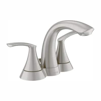 Darcy 4 in. Centerset 2-Handle Bathroom Faucet in Spot Resist Brushed Nickel