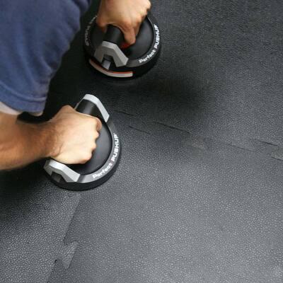 Armor-Lock (Fitness) 3/8 in. x 20 in. x 20 in. Black Interlocking Rubber Tiles (8-Pack, 22 sq. ft.)