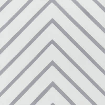 Labyrinth Misty Gray 8 in. x 8 in. Cement Handmade Floor and Wall Tile (Box of 16/ 6.96 sq. ft.)