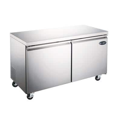 12 cu. ft. Commercial Under Counter Freezer in Stainless Steel