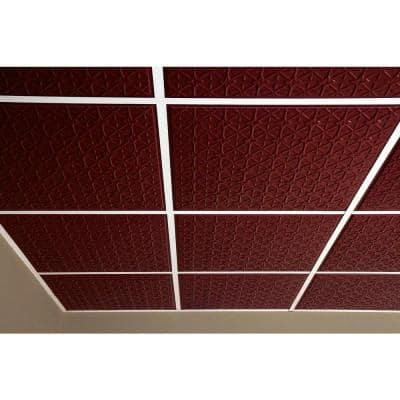 Continental Merlot 2 ft. x 2 ft. Lay-in or Glue-up Ceiling Panel (Case of 6)