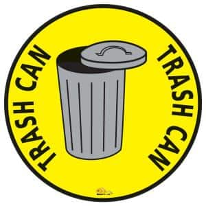 24 in. Trash Can Safety Floor Sign