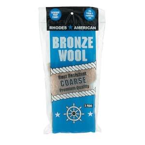 Coarse Grade Bronze Wool Pads (3-Pack)