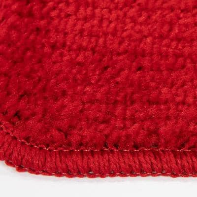 Softy Collection Red 9 in. x 26 in. Rubber Back Stair Tread Cover (Set of 5)
