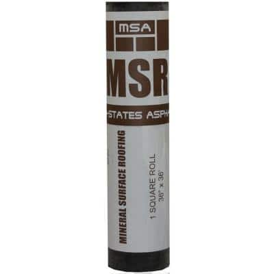 3 ft. x 33.3 ft. (100 sq. ft.) Black Mineral Surface Roll Low Slope Roofing