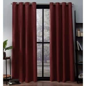 Chili Thermal Grommet Blackout Curtain - 52 in. W x 84 in. L (Set of 2)