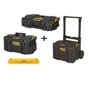 TOUGHSYSTEM 2.0 22 in. Small Tool Box with Bonus 22 in. Medium Tool Box, 24 in. Mobile Tool Box, and Shallow Tool Tray