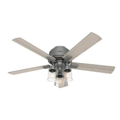 Hartland 52 in. LED Indoor Matte Silver Ceiling Fan with Light Kit