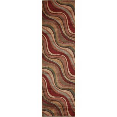Somerset Multicolor 2 ft. x 6 ft. Floral Contemporary Runner Rug