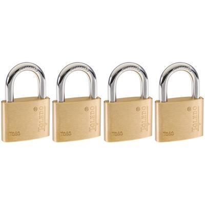 Brass Keyed Padlock (4-Pack)