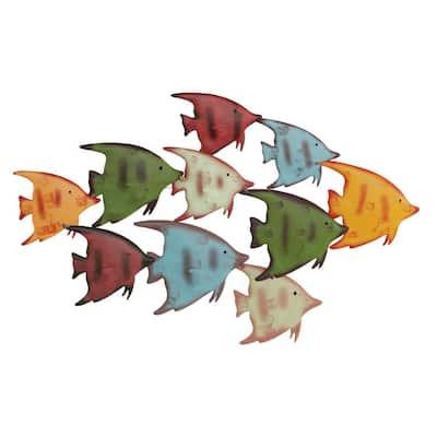 School of Fish Metal Wall Art