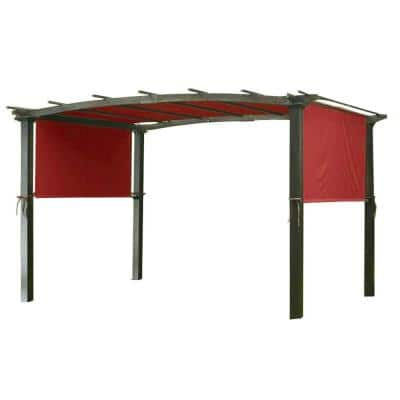 Universal Replacement Canopy Top Cover in Cinnabar for Metal Pergola Frame