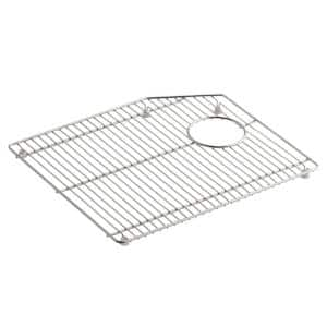 Indio 14.8 in. x 17.3 in. Large Sink Bowl Rack in Stainless Steel