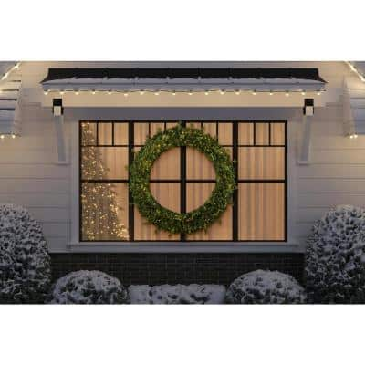 60 in. Jackson Prelit Artificial Wreath with 300-Low Voltage LED Micro Dot Lights