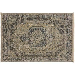 Freya 3 Taupe 2 ft. x 3 ft. Accent Area Rug