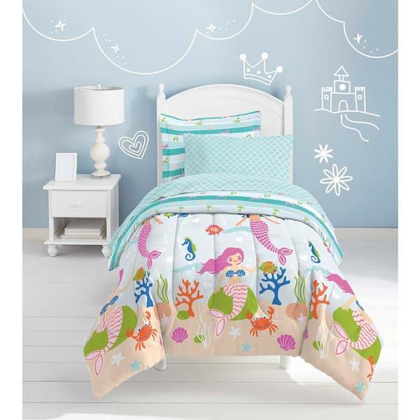 Dream Factory Mermaid Dreams 5 Piece, Mermaid Bedding Twin