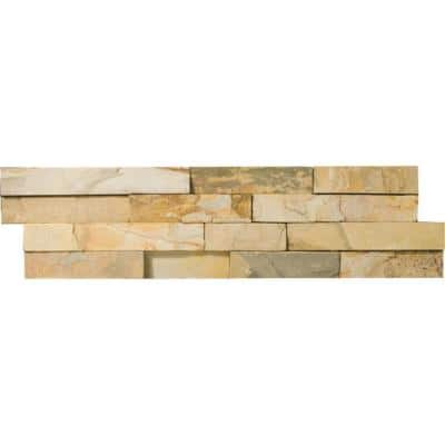 Slate Autumn Lilac 6.02 in. x 24.02 in. Slate Wall Tile (1.0 sq. ft.)