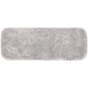Finest Luxury Platinum Gray 22 in. x 60 in. Plush Nylon Bath Mat