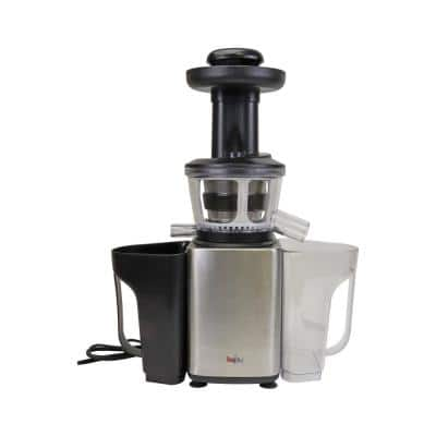 33.8 oz. Silver Slow Juicer, Masticating Cold Press Extractor