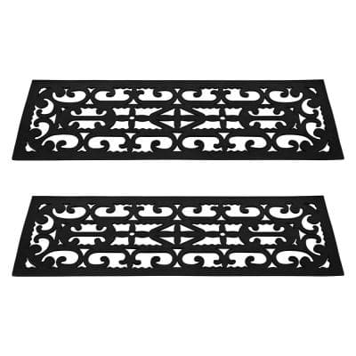 0.125 in. x 9.25 in. x 28 in. Non-Slip Stair Mats with Traction Control Grip