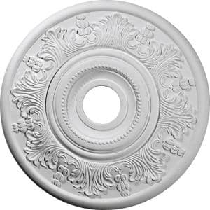 20'' x 3-1/2'' ID x 1-1/2'' Vienna Urethane Ceiling Medallion (Fits Canopies upto 6-1/2''), Primed White