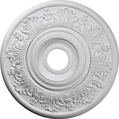 "20"" x 3-1/2"" ID x 1-1/2"" Vienna Urethane Ceiling Medallion (Fits Canopies upto 6-1/2""), Primed White"
