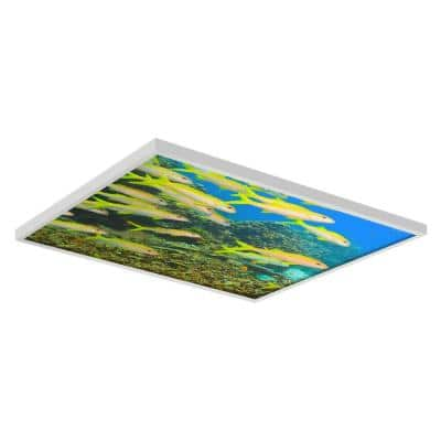 Ocean 005 2 ft. x 2 ft. Flexible Decorative Light Diffuser Panels Ocean for Classrooms and Offices