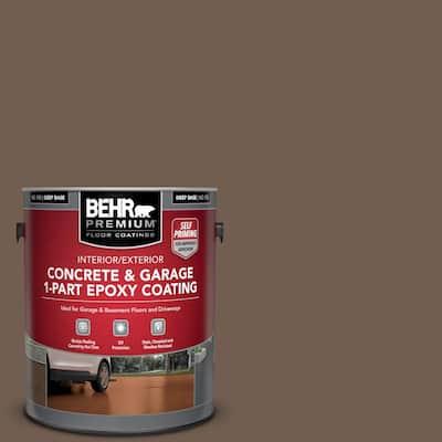 1 gal. #PFC-35 Rich Brown Self-Priming 1-Part Epoxy Satin Interior/Exterior Concrete and Garage Floor Paint