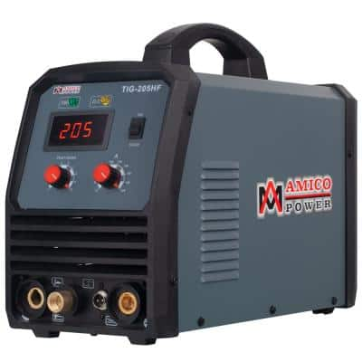 205 Amp TIG Stick Arc DC Inverter Welder with 95-Volt to 260-Volt Wide Voltage Welding, 80% Duty Cycle