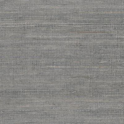 Grey Pearl Grass Cloth Non-Pasted Wallpaper Roll (Covers 72 Sq. Ft.)