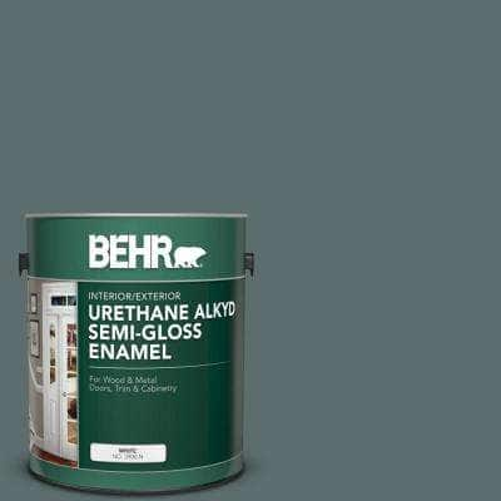 1 gal. #PPU12-19 Mountain Pine Urethane Alkyd Semi-Gloss Enamel Interior/Exterior Paint