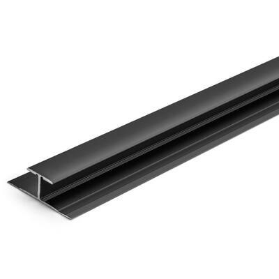 5.5 mm Dark Bronze 1-1/4 in. x 84 in. Aluminum LVT T-Shape Tap Down Transition Strip