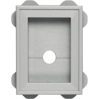 5.0625 in. x 6.75 in. #030 Paintable Wrap Around Universal Mounting Block