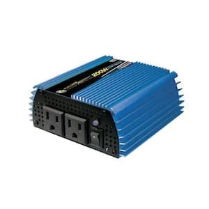 12-Volt DC to AC 200-Watt Power Inverter