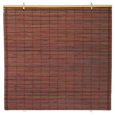Oriental Furniture Bamboo Cordless Window Shade Mahogany 72 in. W x 72 in. L