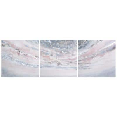 """Heavens-1' by Martin Edwards Triptych Set Textured Metallic Abstract Hand Painted Wall Art 32 in. x 96 in."