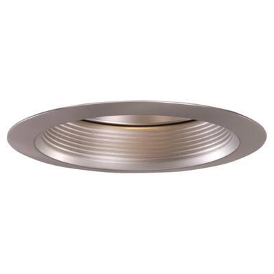 6 in. Satin Nickel Recessed Ceiling Light Baffle Air-Tite Super Trim