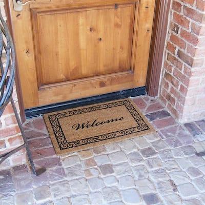 Estate Style 24 in. x 57 in. Coco Coir Welcome Door Mat
